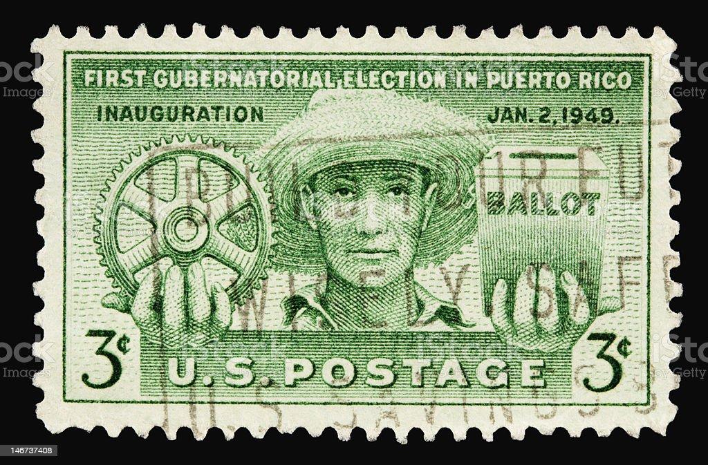 Puerto Rico 1949 stock photo