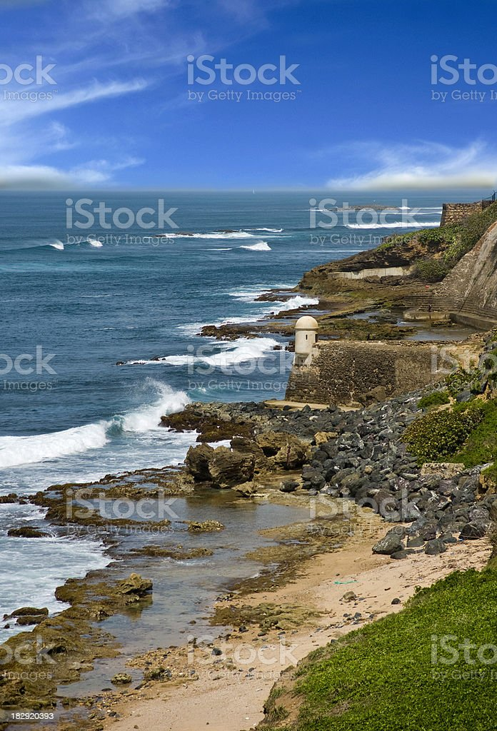 Puerto Rico Coast Line stock photo