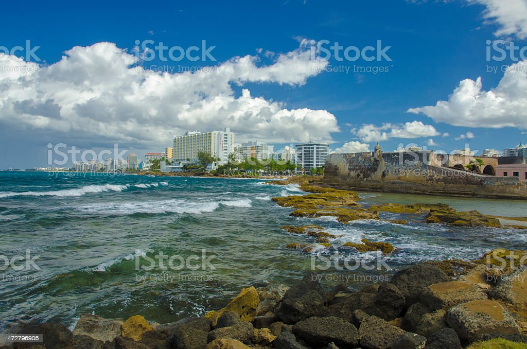 Puerto Rico Coastline, Condado District stock photo