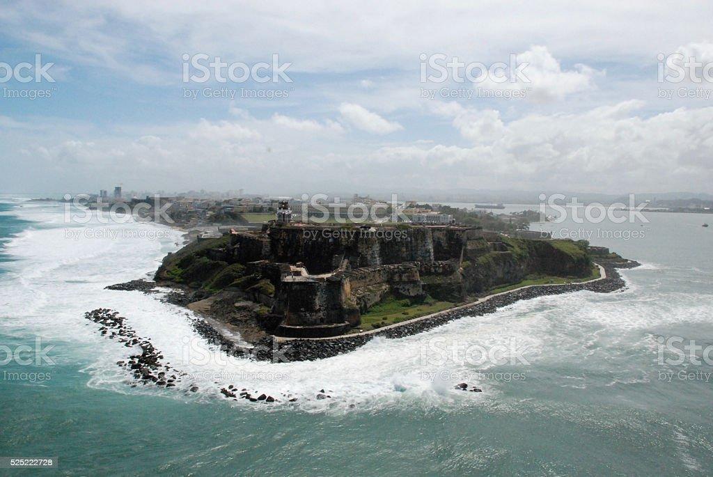 Puerto Rico, El Morro Castle Aerial view stock photo