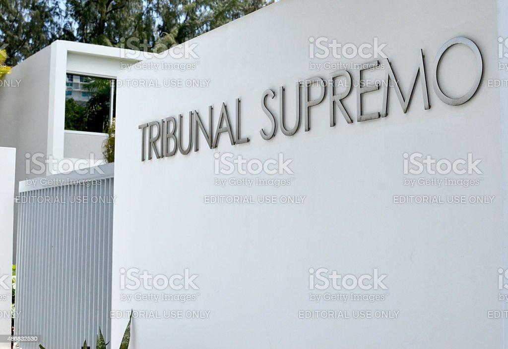 Puerto Rico Supreme Court stock photo