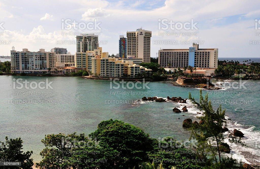 Puerto Rico Waterfront stock photo