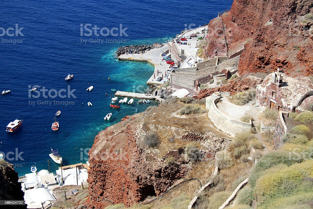 Puerto Santorini zbiór zdjęć royalty-free