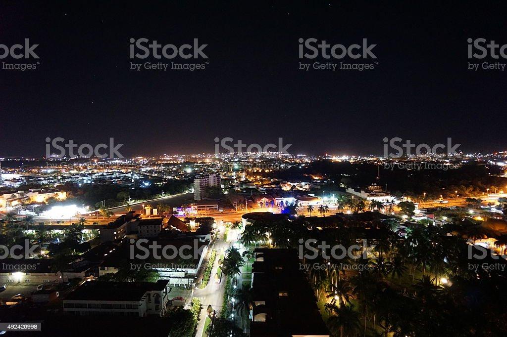 Puerto Vallarta at night royalty-free stock photo