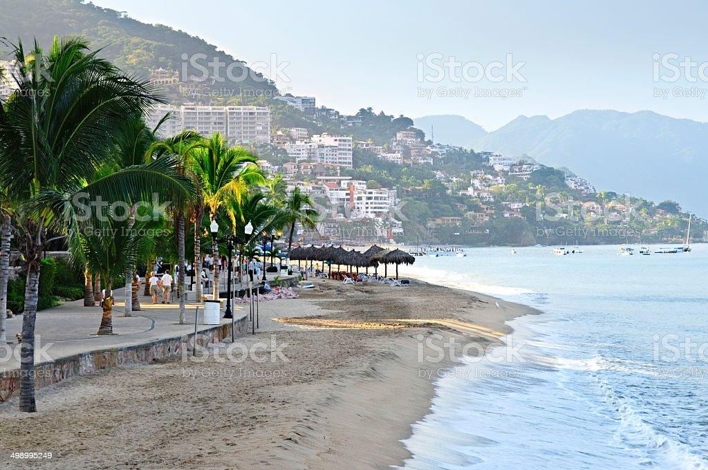 Puerto Vallarta beach, Mexico stock photo