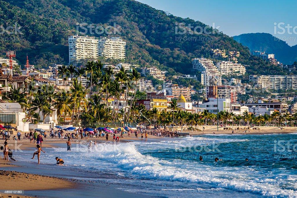 Puerto Vallarta beach stock photo