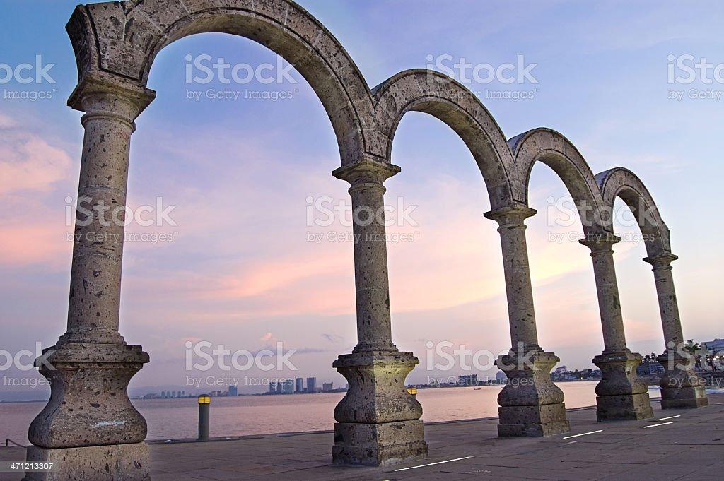 Puerto Vallarta Downtown Arches stock photo