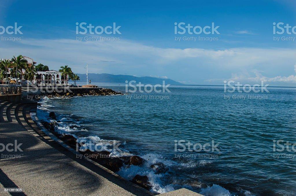 Puerto Vallarta Malecon/ El Malecon stock photo
