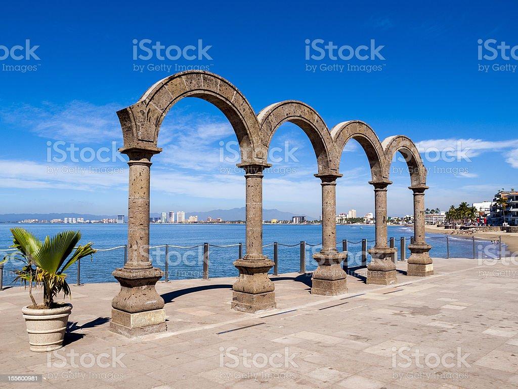 Puerto Vallarta sculpture Mexico stock photo