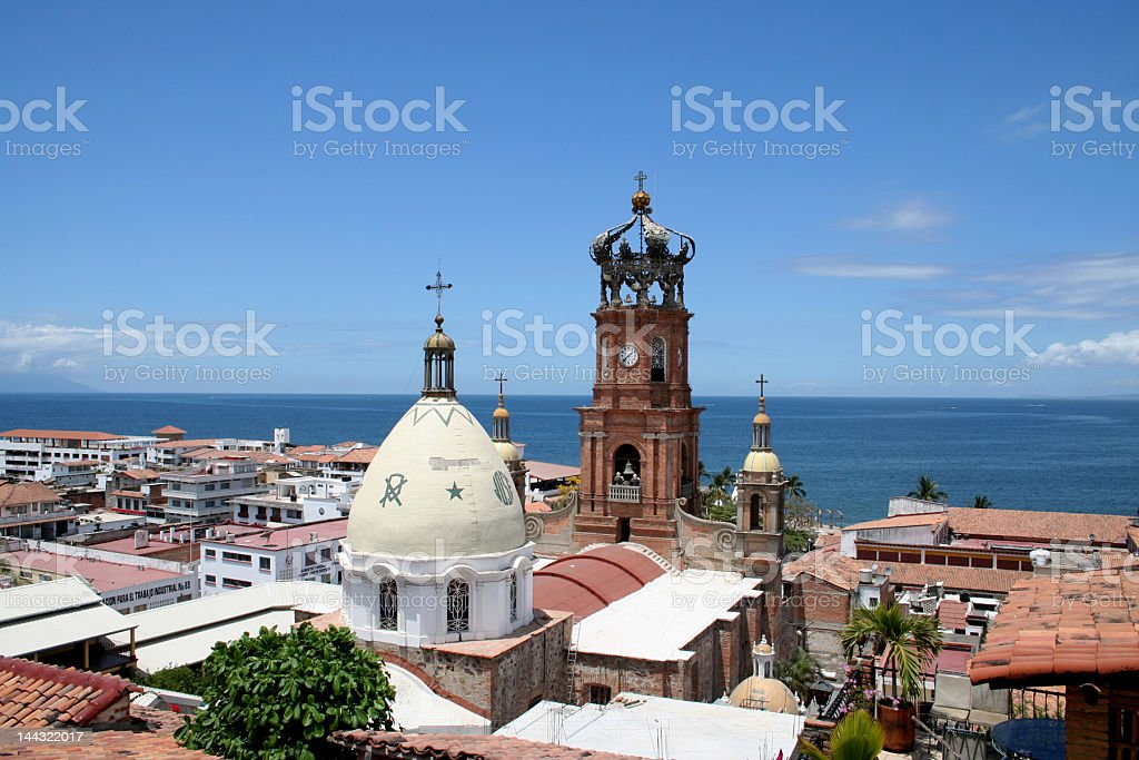 Puerto Vallarta´s Church stock photo