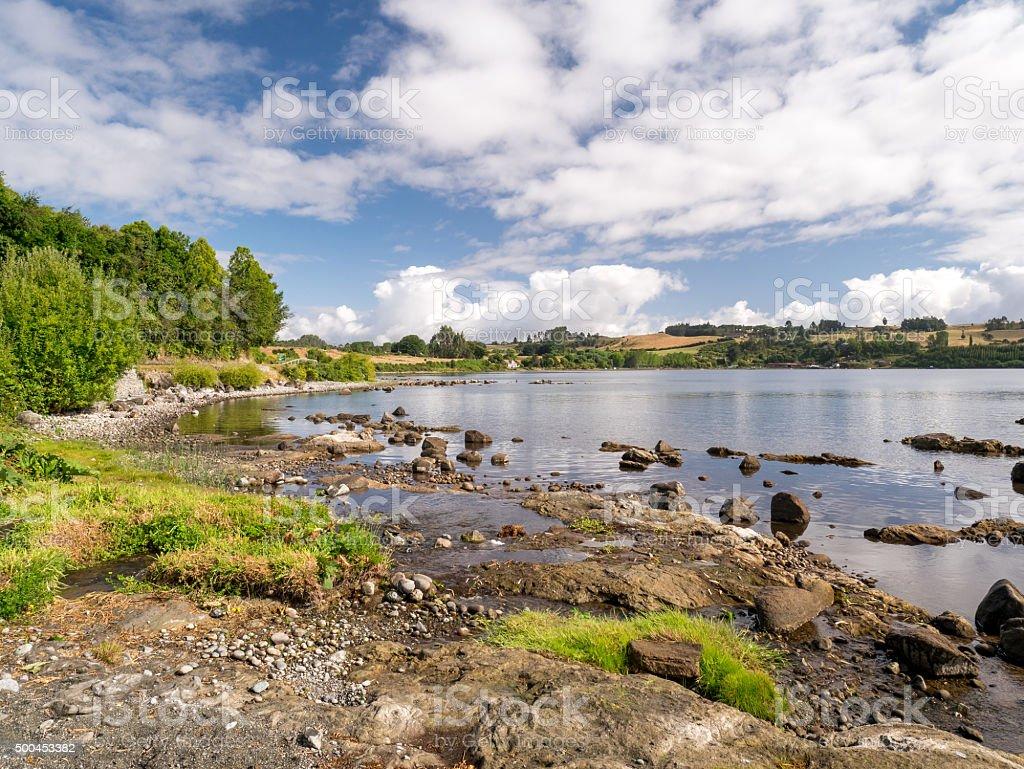 Puerto Varas to Frutillar royalty-free stock photo