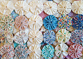 puff circle quilt