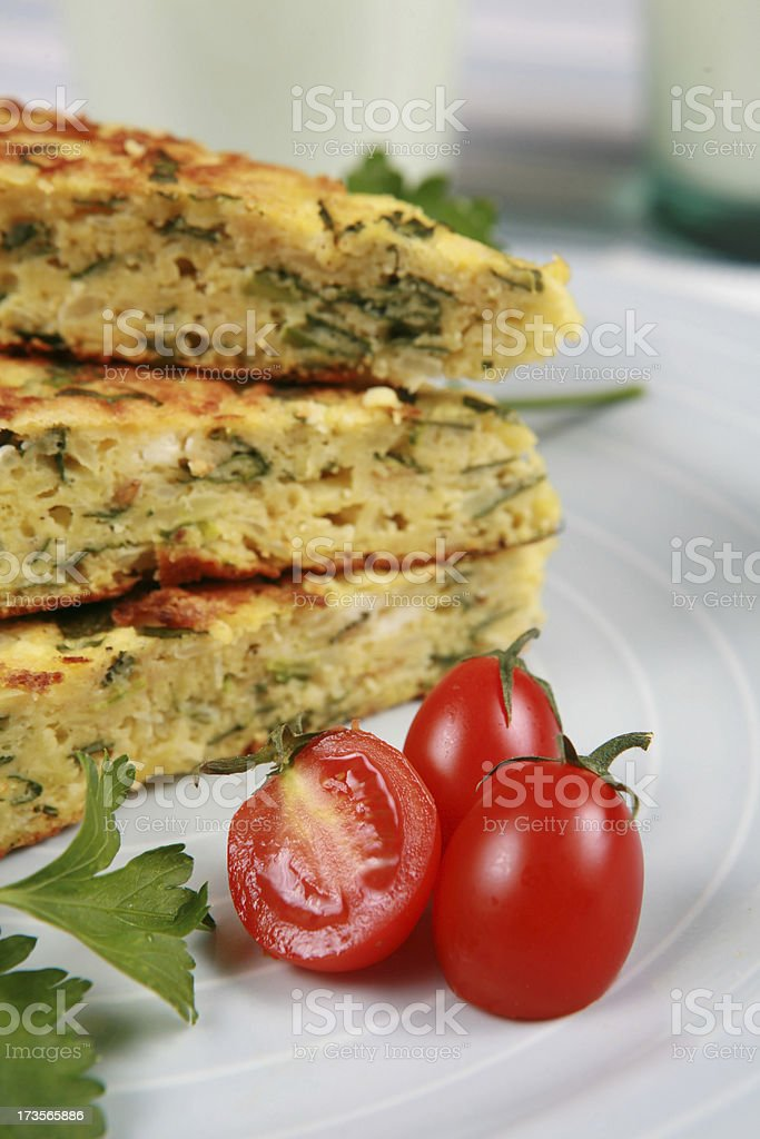puff pastry and tomatos royalty-free stock photo