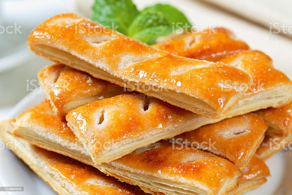 Puff pastry sticks royalty-free stock photo