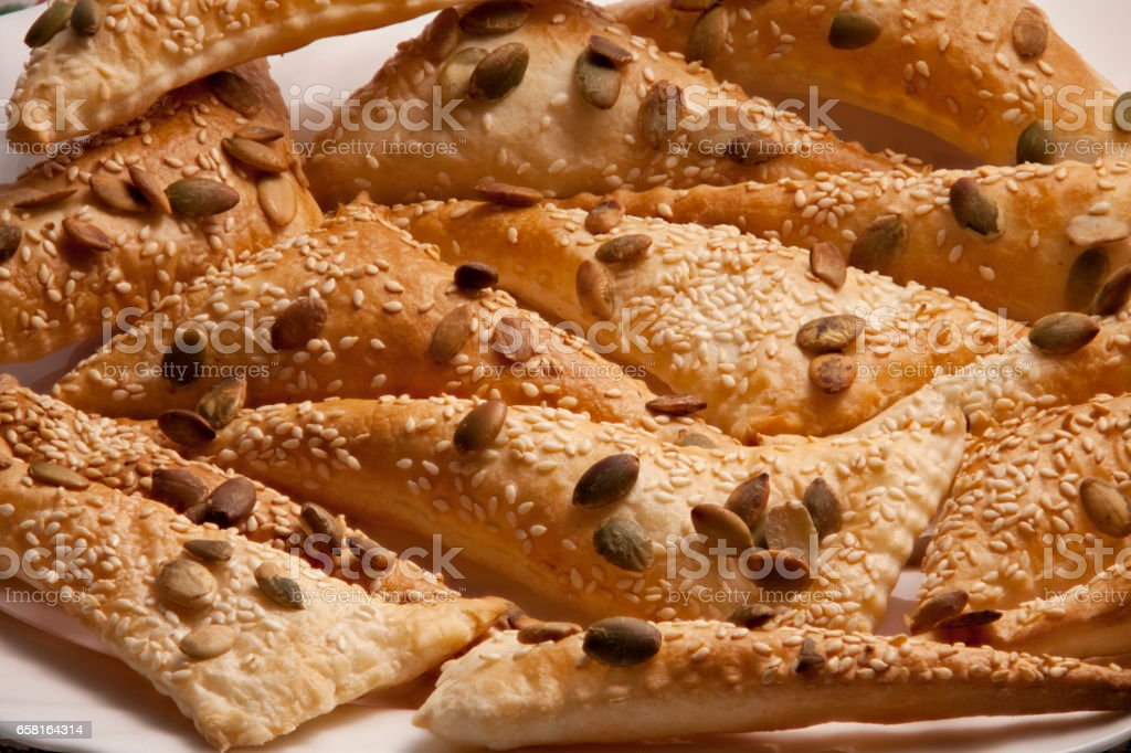 puff pastry Triangles stock photo