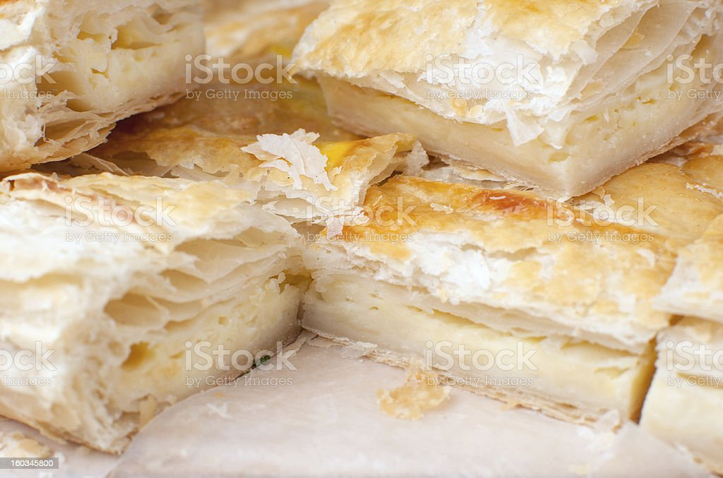 Puff pastry with cheese stock photo
