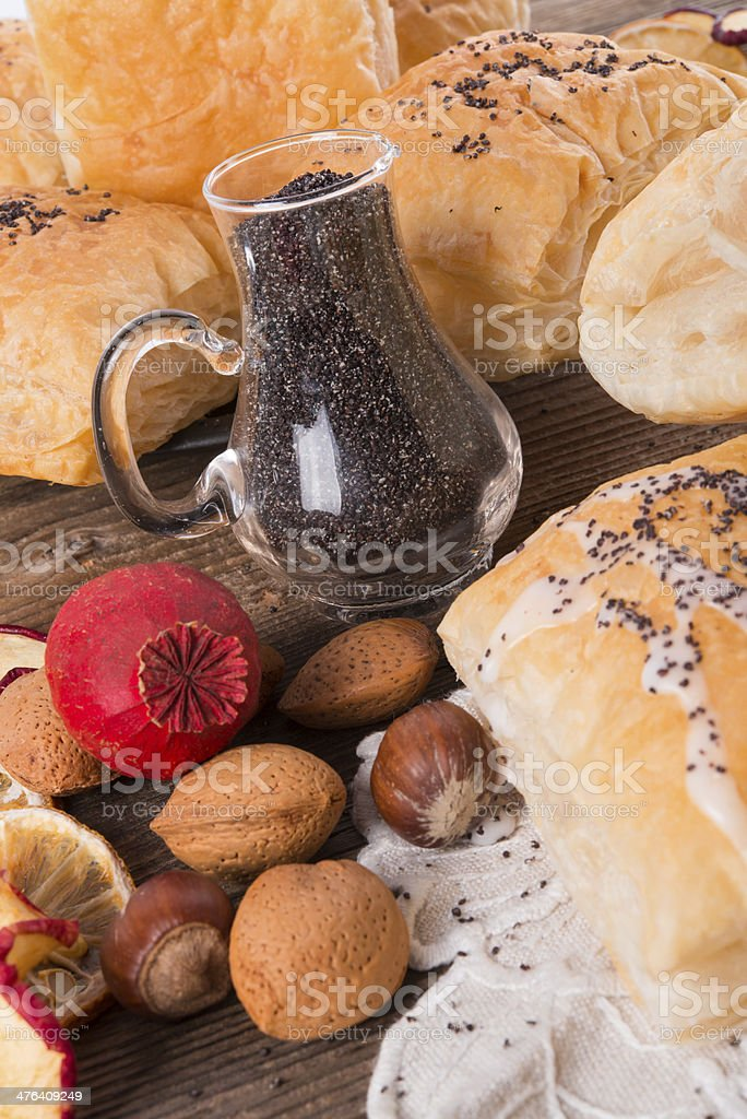 puff pastry with cinnamon sugar royalty-free stock photo