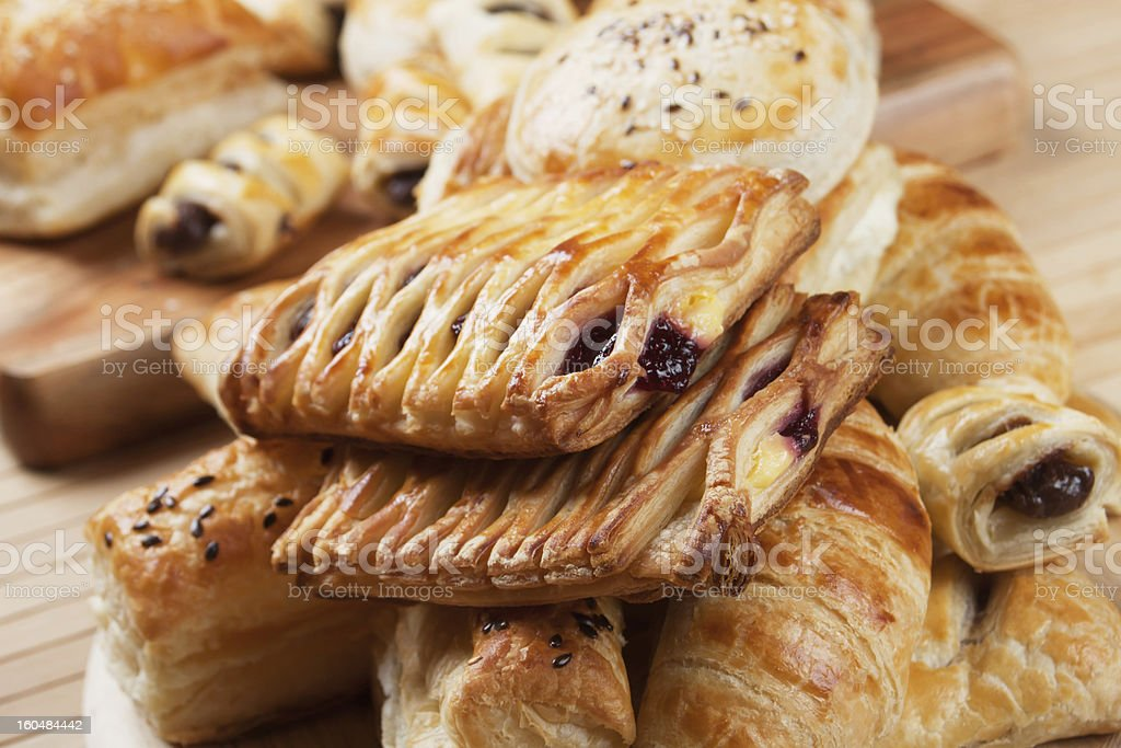 Puff pastry with jam filling royalty-free stock photo