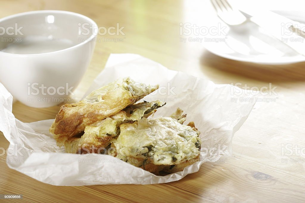 puff pastry with spinach royalty-free stock photo