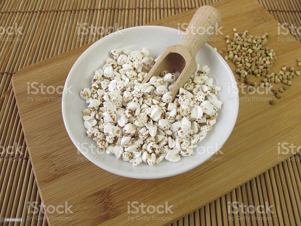 Puffed buckwheat stock photo