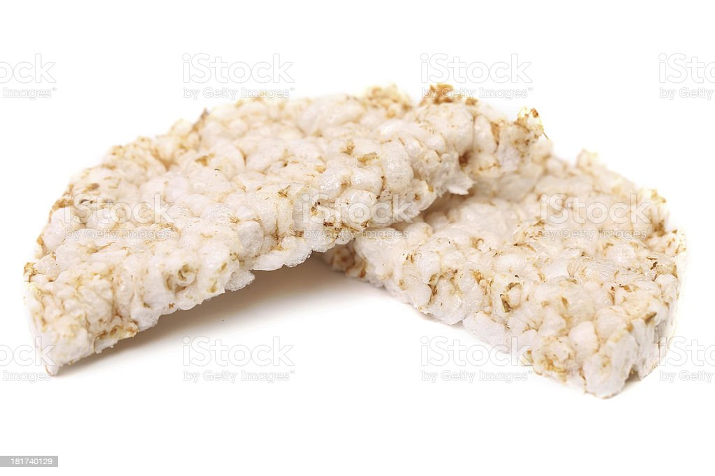 Puffed rice snack .White background. royalty-free stock photo