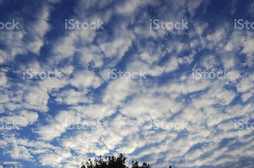 Puffed Sky royalty-free stock photo