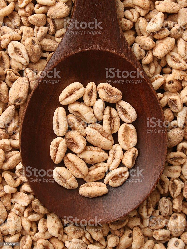 Puffed wheat royalty-free stock photo