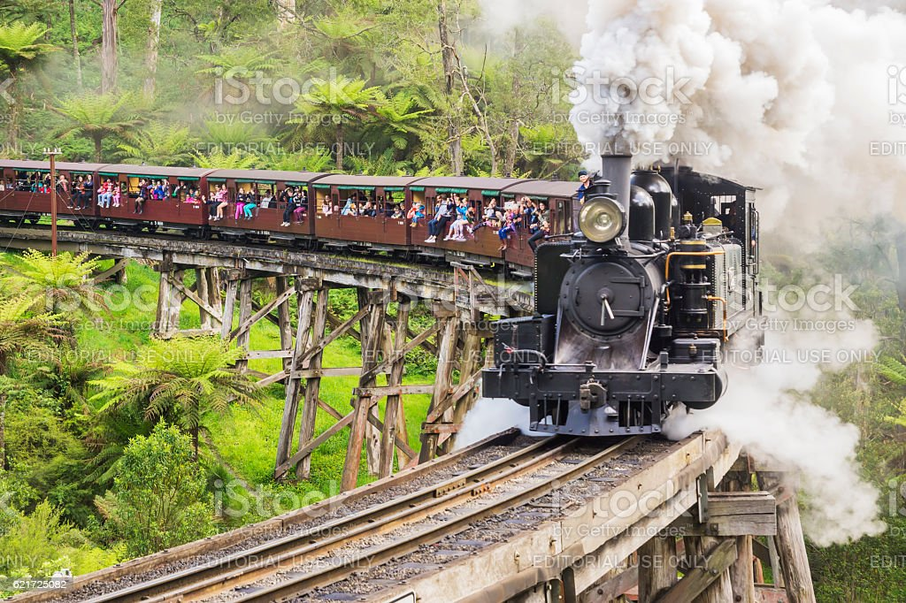 Puffing Billy Railway Train stock photo