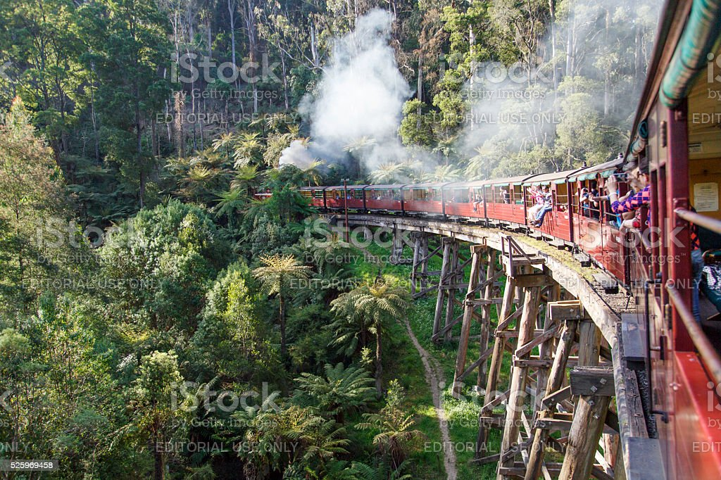Puffing Billy Steam Train - Melbourne stock photo