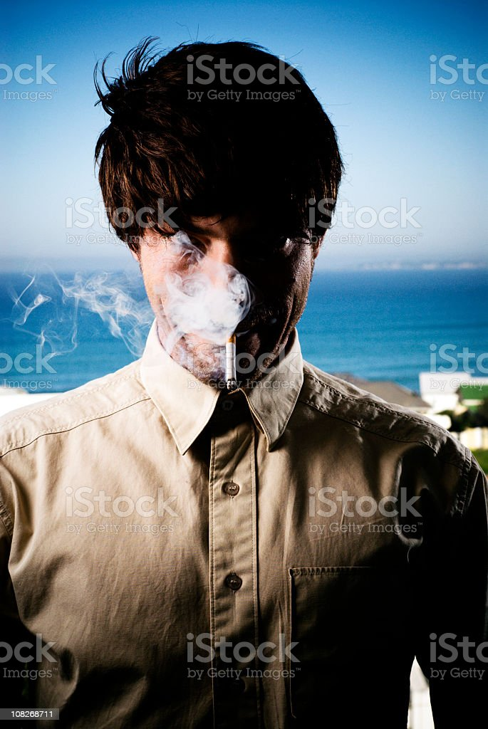 Puffing royalty-free stock photo
