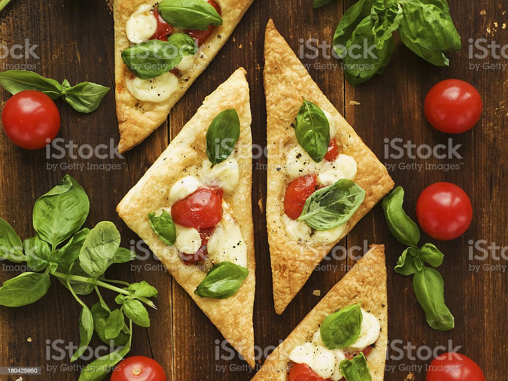 Puff-pizzas royalty-free stock photo
