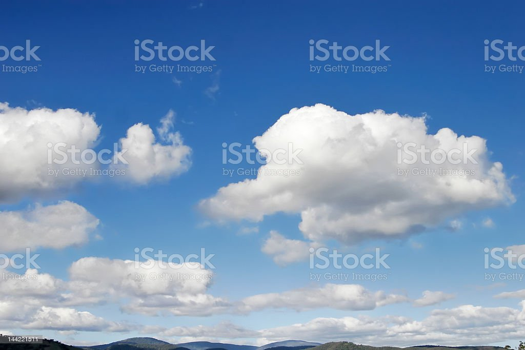 Puffy Cumulus Cloudscape royalty-free stock photo