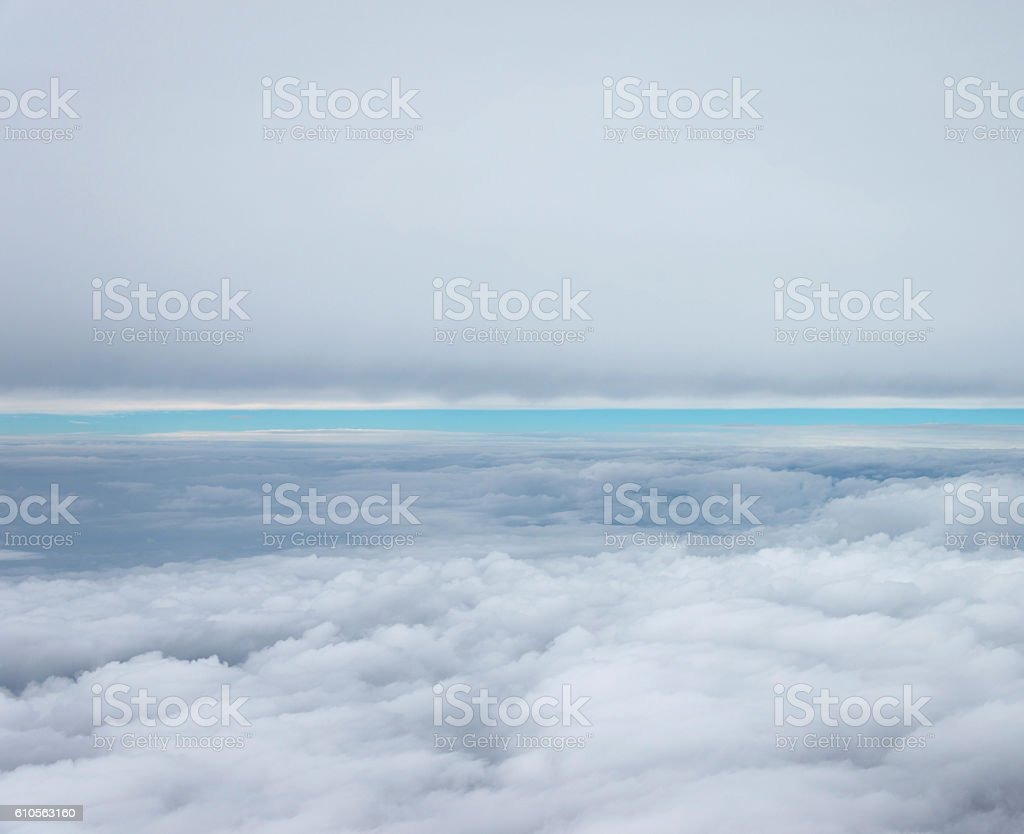 Puffy white clouds stock photo