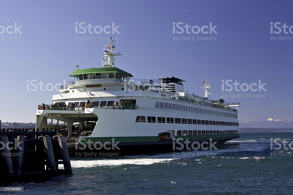 Puget Sound Ferry royalty-free stock photo