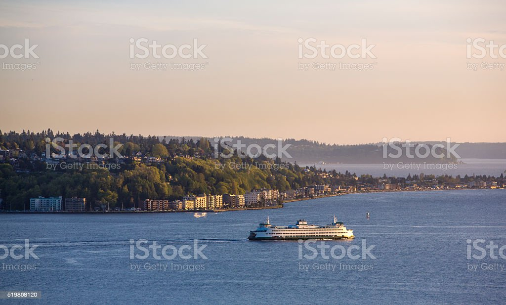 Puget Sound Ferry stock photo