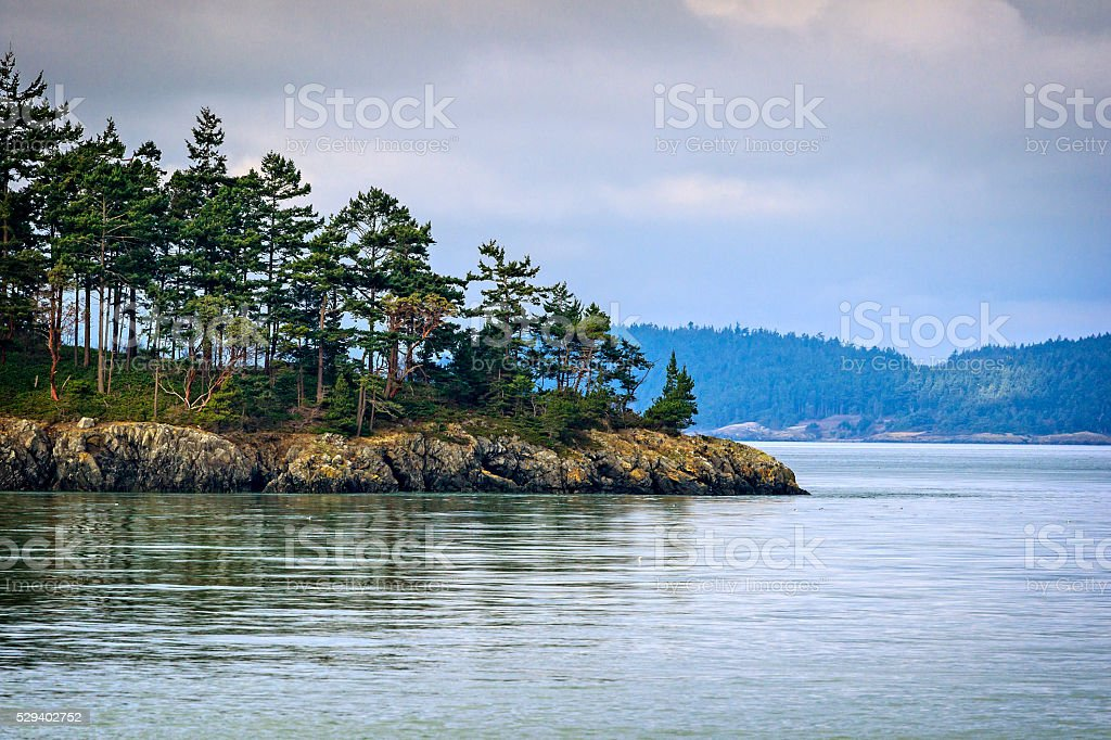 Puget Sound Island stock photo