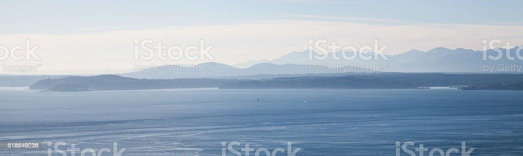 Puget Sound, Seattle stock photo