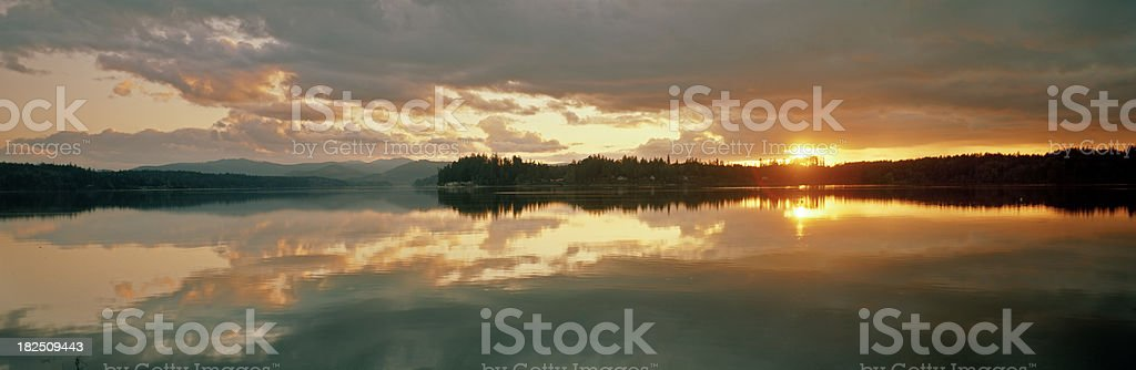 Puget Sound Sunset, Very Calm Evening royalty-free stock photo