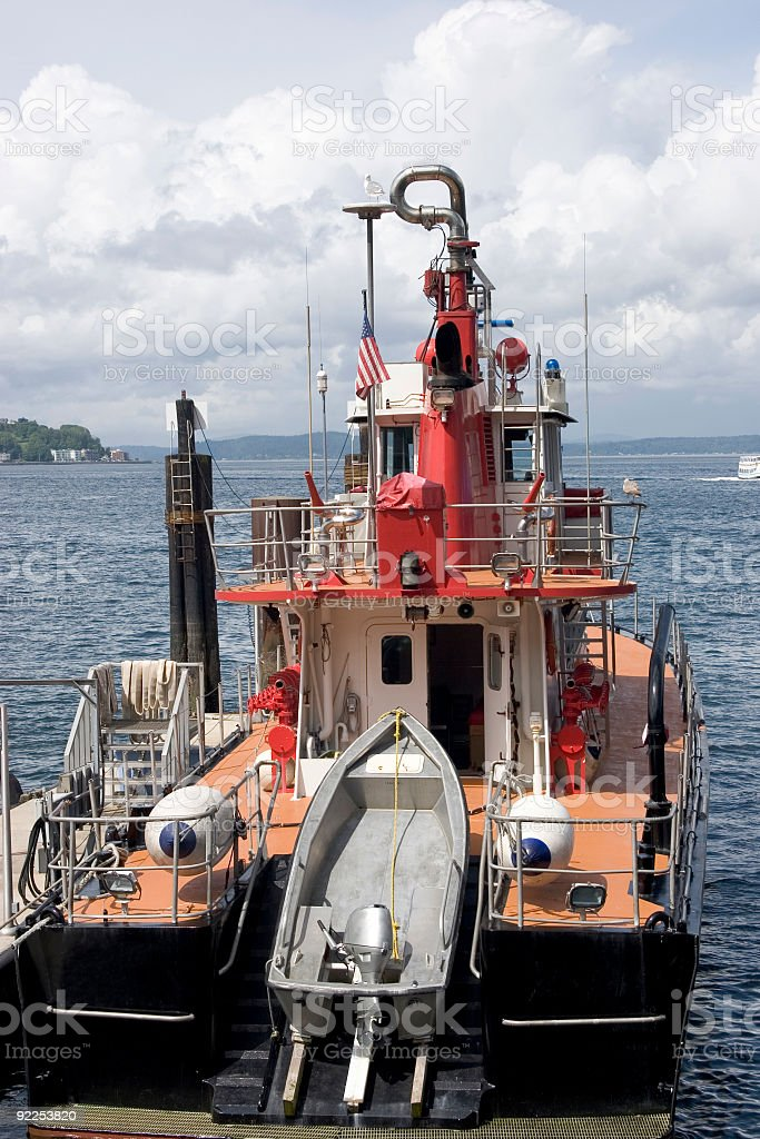 Puget Sound Tugboat royalty-free stock photo
