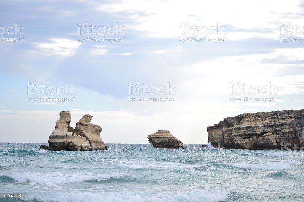 Puglia, Salento. Le due sorelle stock photo