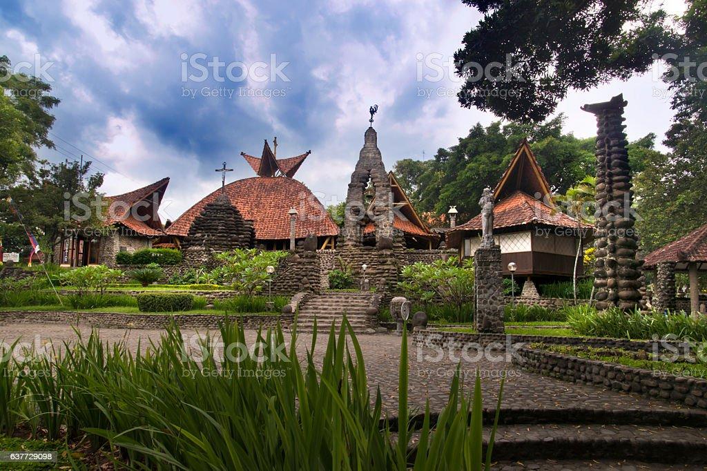Puhsarang Church, Kediri, East Java, Indonesia stock photo