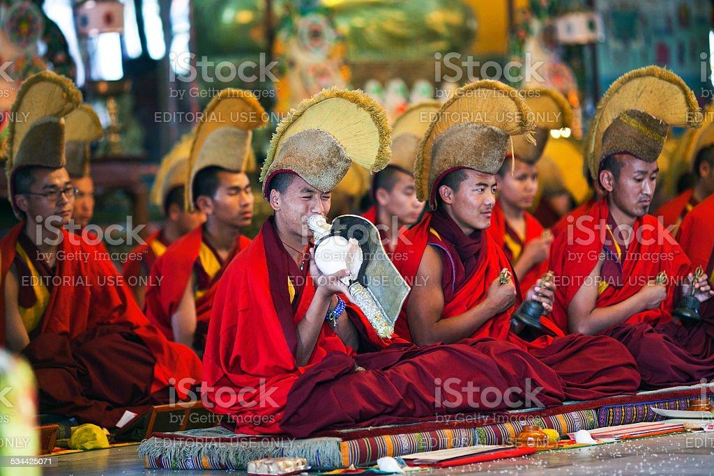 Puja Ceremony, Nepal stock photo