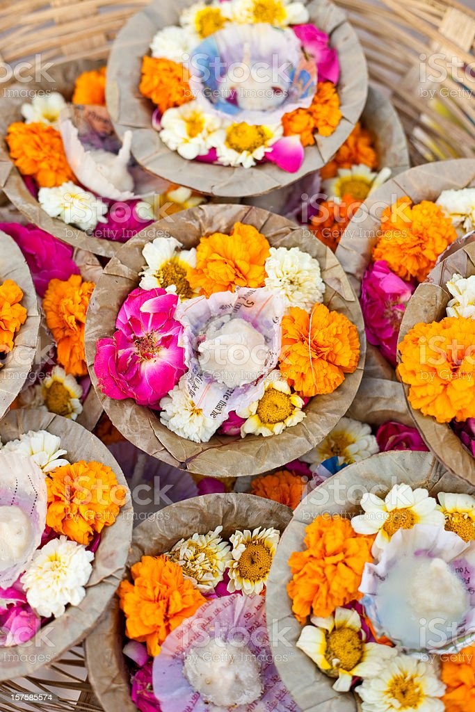 Puja In Varanasi, India royalty-free stock photo