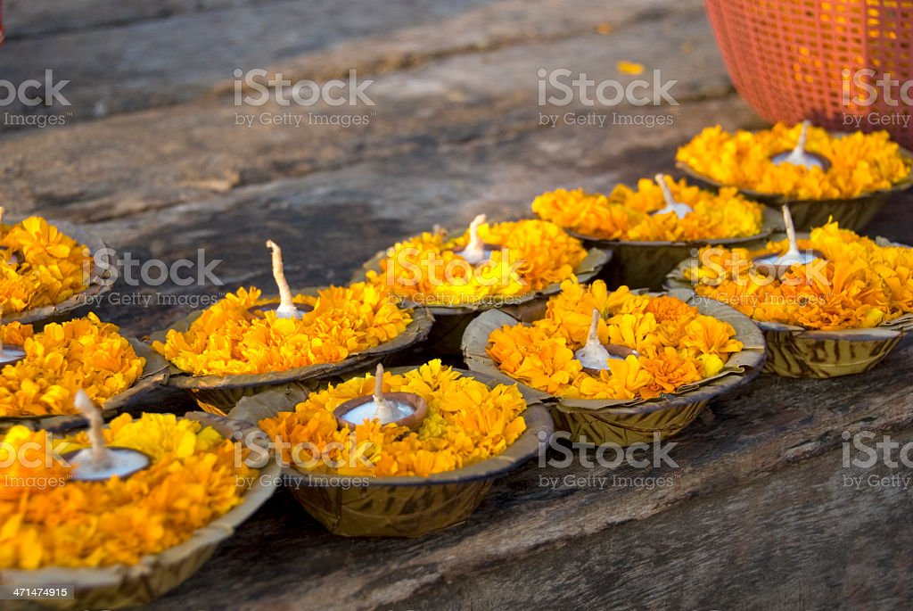 Puja Offering royalty-free stock photo