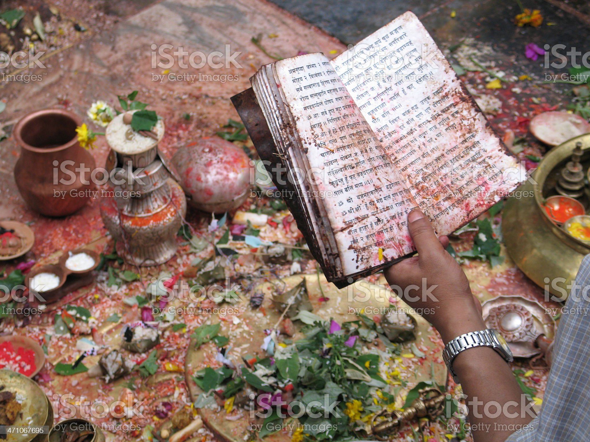 Puja royalty-free stock photo