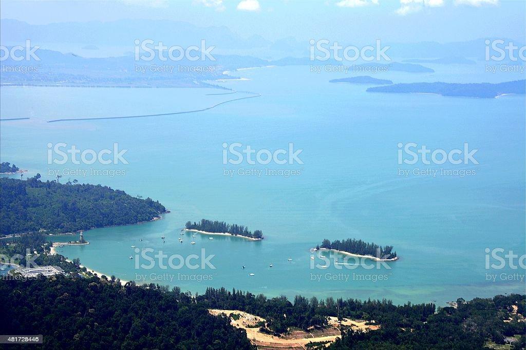 Pulau Langkawi coast landscape, Malaysia stock photo