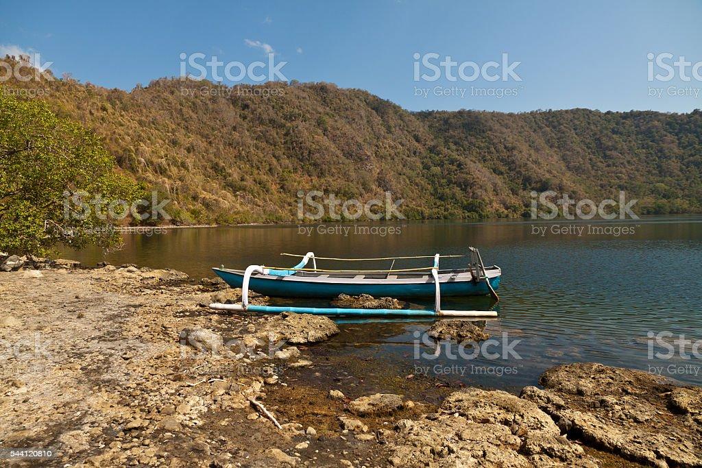 Pulau Satonde in indonesia stock photo