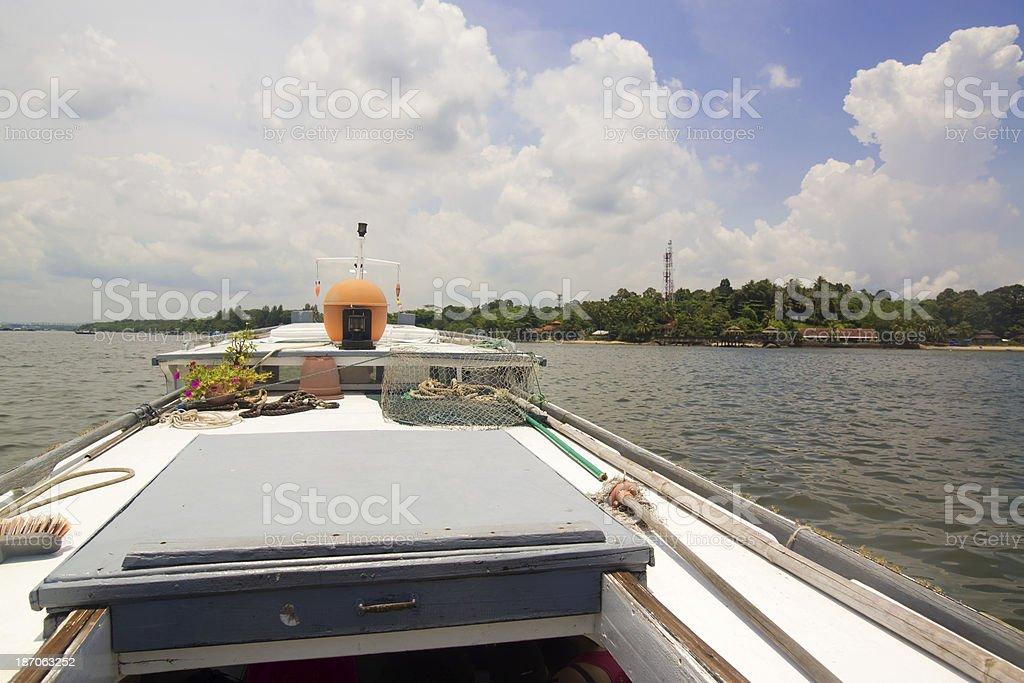 Pulau Ubin - Bumboat stock photo