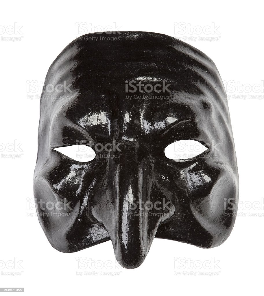 Pulcinella mask stock photo