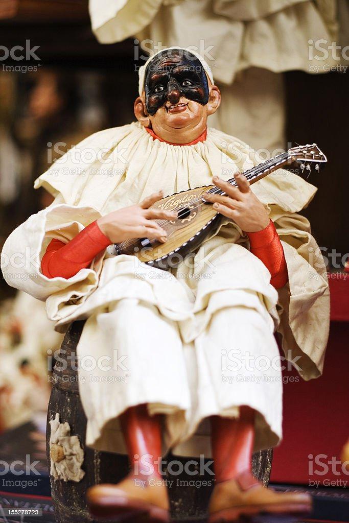 Pulcinella, Traditional Neapolitan Mask royalty-free stock photo